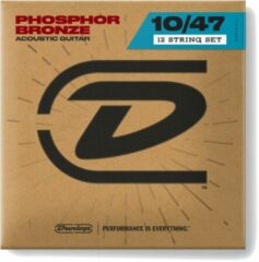Dunlop DAP1047J Phosphor Bronze Light 10-47 12-string snarenset