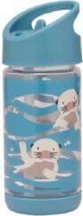 Blauwe SugarBooger Sugar Booger - Drinkfles Flip & Sip - Baby Otter