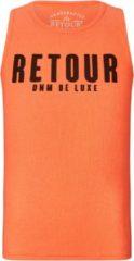 Koraalrode Retour Jeans Meisjes Topje - Neon coral - Maat 104