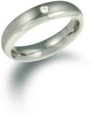 Zilveren Boccia Titanium Boccia titaan ring br. 1/0.03