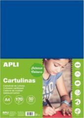 APLI Donkerblauw Karton A4 170 g/m² - 50 vel