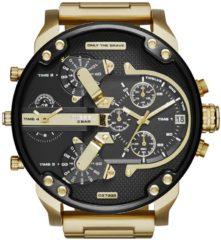 Diesel Horloge Mr. Daddy staal goudkleurig-zwart 66 mm DZ7333
