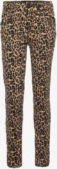 Beige Ai-Girl Ai-Girl meisjes jeans met luipaardprint Niet van toepassing Broek Maat 164