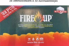 Fire-Up Fire Up witte paraffine aanmaakblokjes 32 stuks OMDOOS 24 VERPAKKINGEN