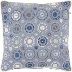 Blauwe Dutch Decor Kussenhoes Dilan 45x45 Cm Denim