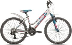 24 Zoll Legnano Seahorse Mädchen Mountainbike Fahrrad 18-Gang weiß-blau