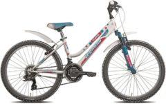 24 Zoll Mädchen Fahrrad Legnano Fantasy 18 Gang Legnano weiß-blau