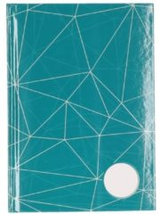 Groene Luxe schetsboek / schrift harde kaft - blanco bladzijdes A5 formaat