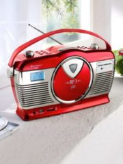 Retro-Kofferradio Soundmaster rot