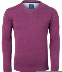 Redmond heren trui katoen - V-hals - donker roze - Maat XXXL