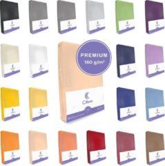 Cillows Premium Jersey Hoeslaken voor Matras - 180x200 - 200x220 cm - (tot 25 cm hoogte) – Abrikoos
