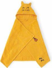 Oranje BiggDesign Milk&Moo - Baby Badcape - Babyhanddoek met Kap - 0-2 Jaar - Geel