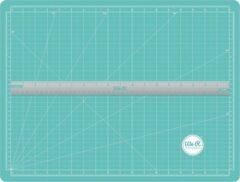 Groene We R Memory Keepers - Scallopes Magenetische Snijdmat met Liniaal