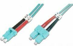 Digitus DK-2532-03/3 Glasvezel Aansluitkabel [1x LC-stekker - 1x SC-stekker] 50/125 µ Multimode OM3 3.00 m