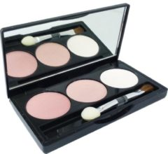 Roze Jean Marcel Jean D'Arcel brillant Eye Shadow Trio Oogschaduw Pallette Oogmake-up 3x1.5g - 2 light pink / zart rosa