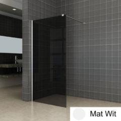 Boss & Wessing BWS Inloopdouche Pro Line Rookglas 100x200 Nano Coating Mat Wit Profiel en Stabilisatiestang