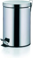 Witte Dusty Pedaal Afvalemmer - 3 Liter - Zilver - Kela