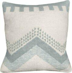 Blauwe Malagoon Zig zag fun misty blue cushion
