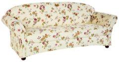 Sofa 2,5 Sitzer mit rosenbedrucktem Stoff Streifen
