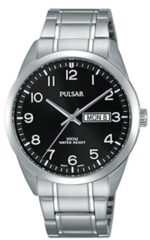 Pulsar PJ6063X1 Herenhorloge zilverkleurig-zwart