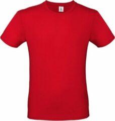 Bc Rood basic t-shirt met ronde hals voor heren - katoen - 145 grams - rode shirts / kleding XL (54)