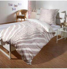 Wendebettwäsche Safari Zebra Bettwaren-Shop beige