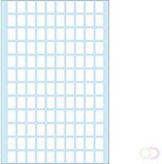 Huismerk Herma 3610 Universele Etiket 8x12mm Wit - 10 Pakje met 7 velletjes stickers