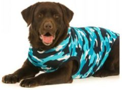Suitical International B.V Suitical Recovery Suit Hond - S Plus - Blauw Camouflage