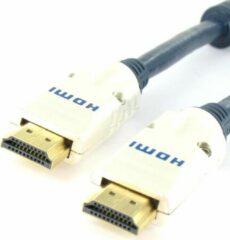 Blauwe Golden Note Premium HDMI 2.0 kabel 4k@60Hz Ultra HD 2m
