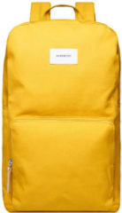Sandqvist Kim Yellow with natural leather Rugzak SQA1248 duurzaam geel laptop 15 inch schooltas