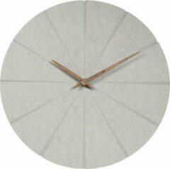 QUVIO Wandklok beton / Minimalistische klok / Muurklok / Klokken / Muurdecoratie / Wanddecoratie - Grijs