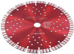 VidaXL Diamantzaagblad met turbo en gaten 230 mm staal