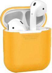 BTH Siliconen Bescherm Hoesje Cover Hoes voor Apple AirPods Case - Oranje