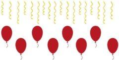 Rosami Decoratiestickers 26 delige stickerset herbruikbaar serpentine & ballonnen | Rosami