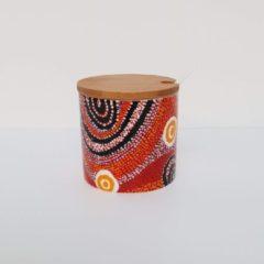 Oranje Alperstein Designs Design suikerpotje - Otto Jungarrayi Sims - Aboriginal collectie