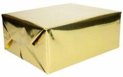 3x Cadeaupapier goud metallic - 400 x 50 cm - kadopapier / inpakpapier