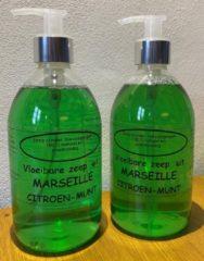 Provendi Vloeibare Marseille zeep, pompje 2 x 500 ml Citroen-munt