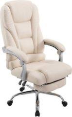 CLP Bürostuhl PACIFIC mit Kunstlederbezug I Schreibtischstuhl mit Laufrollen I Relaxsessel mit ausziehbarer Fußstütze I In verschiedenen Farben erhält