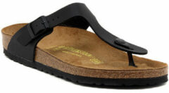 Zwarte Birkenstock Slippers Dames Gizeh - 043691 Black - Normaal