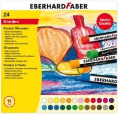 Oliepastelkrijt Eberhard Faber 11mm doos a 24 st assorti