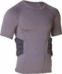 MM RARS2 Mouwloos Shirt With Rib Padding - Grijs- Medium