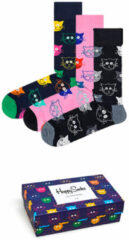 Happy Socks 3-Pack Mixed Cat Socks - Giftbox - Maat 41-46