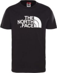 Witte The North Face Y S/S Easy Tee Shirt Unisex - Tnf Black/Tnf White - Maat M