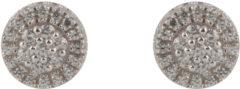 Silver Lining - Zilveren oorknoppen gerodineerd met zirkonia - pave