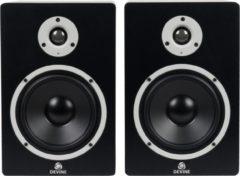 Met de Devine MR-6A studiomonitoren geef je je nieuwe studio meteen een goede start. Voor een niet zo overdreven investering kun je het mixen leren, en je producties goed afronden. Voorzien van XLR- en TRS-aansluitingen.