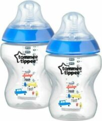 Witte Tommee Tippee Closer to Nature Gedecoreerde zuigfles 260 cc