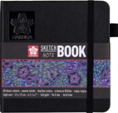 Sakura schetsboek Note, zwart, ft 12 x 12 cm