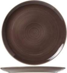 Cosy&Trendy Cosy & Trendy Cornwall Taupe Plat Bord - Ø 28 cm - Set-6