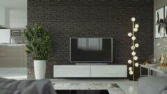 Maxima House VIGO I Zwevend TV Meubel - TV Meubel Monaco Eik / Grijs - TV Kast Meubel - Modern Design - 30x180x40 cm