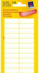 Massamarkt Etiket Zweckform 32x10mm wit blister a 132 etiketjes Bundel a 10 pakjes